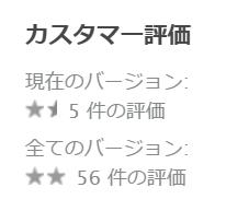 レシポ/AppStore/カスタマー評価